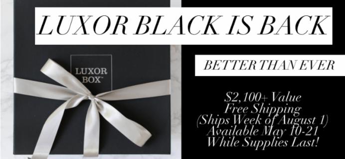 New Luxor Box 2017 BLACK Limited Edition Box Spoiler #2!