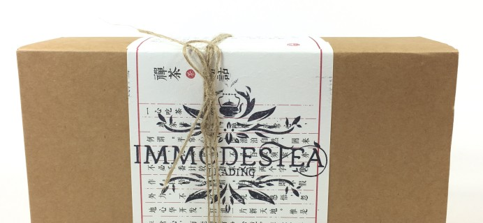Immodestea Tea Master Club Subscription Box Review + Coupon – May 2017