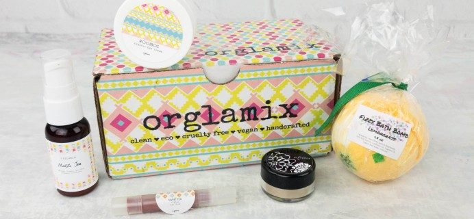 Orglamix May 2017 Subscription Box Review & Coupon