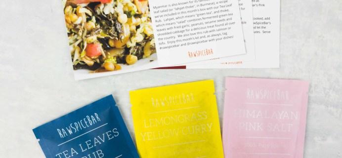 RawSpiceBar Spice Subscription Review & Coupon – May 2017