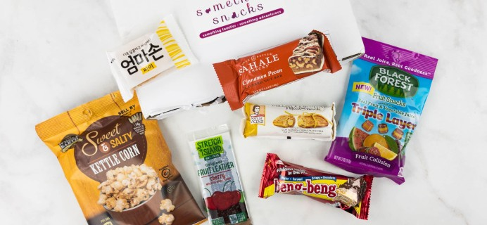 Something Snacks May 2017 Subscription Box Review