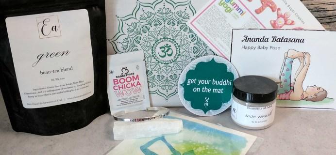 BuddhiBox Yoga Subscription Box Review + Coupon – May 2017