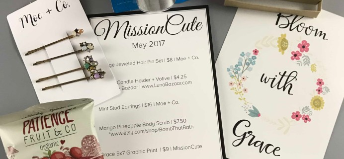 Mission Cute May 2017 Subscription Box Review + Coupon