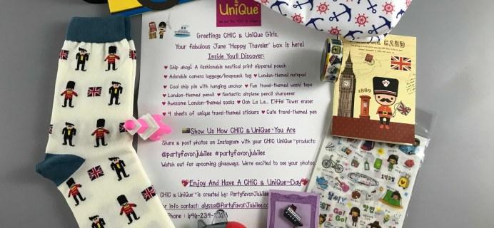 Chic & Unique June 2017 Subscription Box Review