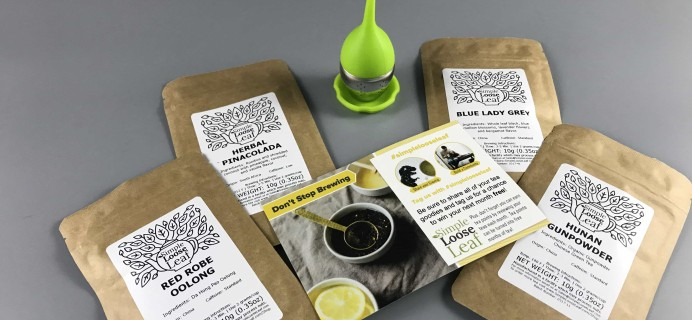 Simple Loose Leaf Tea June 2017 Subscription Box Review