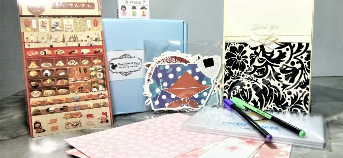 Paper Card & Things Stationery Box May 2017 Subscription Box Review