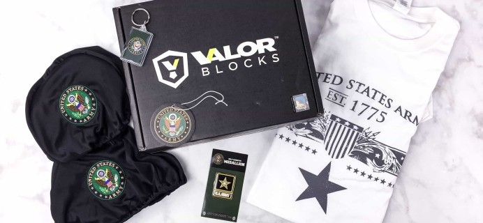 Valor Blocks June 2017 Subscription Box Review – US Army Block