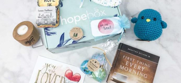 Hopebox May 2017 Subscription Box Review