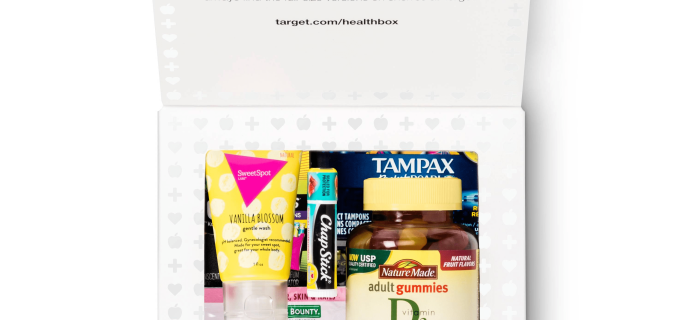 New $9.99 Target Health Box Available Now – free with purchase!