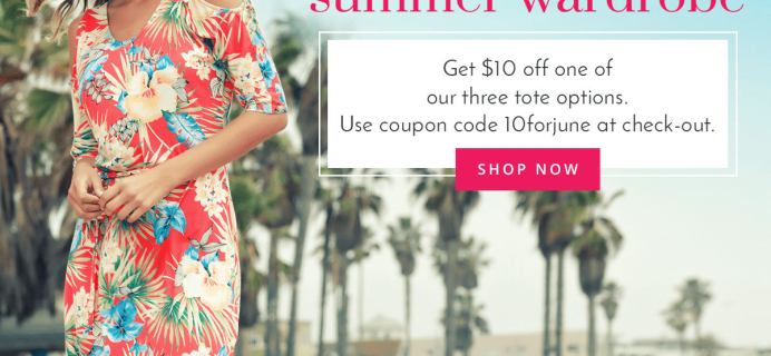 Golden Tote Coupon: Save $10 On June Tote!