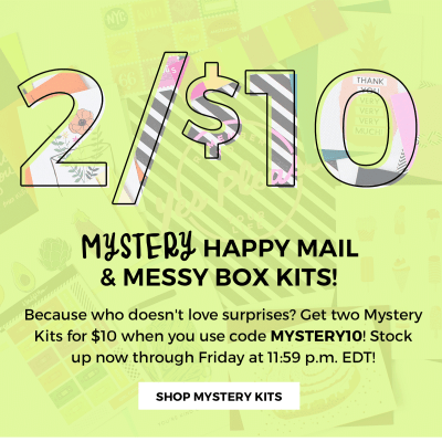 A Beautiful Mess Coupon: 2 for $10 Happy Mail + Messy Box Mystery Kits!