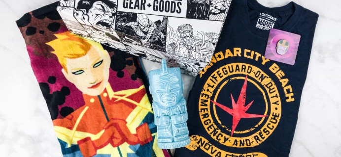 Marvel Gear + Goods May 2017 Subscription Box Review + Coupon!