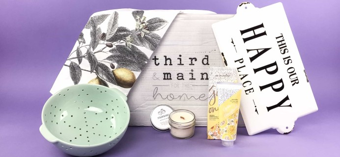 Third & Main July 2017 Subscription Box Review