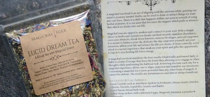 Magickal Folk July 2017 Ritual Tea Kit Subscription Box Review + Coupon!