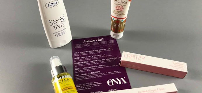 We Are Onyx ONYXBOX July 2017 Subscription Box Review + Coupon