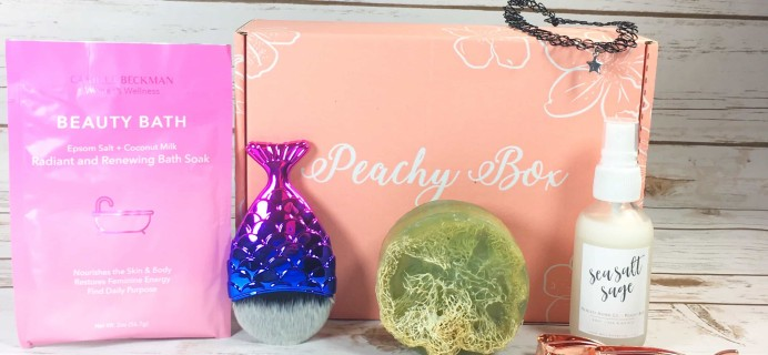 Peachy Box Subscription Box Review + Coupon – July 2017