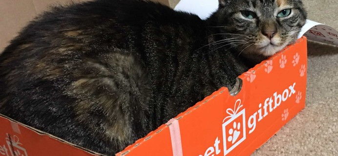 PetGiftBox July 2017 Cat Subscription Box Review + 50% Off Coupon