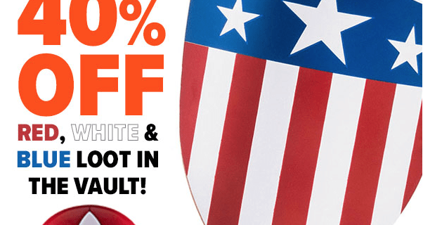 Loot Vault Red White & Blue Sale: 40% Off 3 Days Only!
