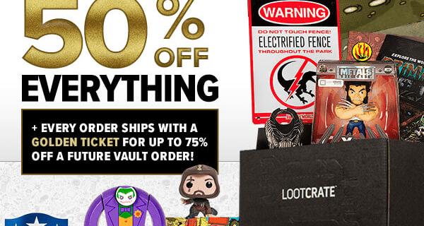 Loot Vault 50% Off Sale!