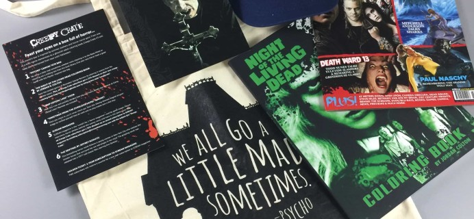 Creepy Crate August 2017 Subscription Box Review + Coupon