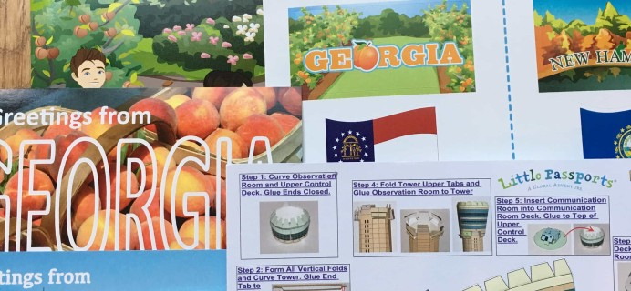 July 2017 Little Passports USA Subscription Box Review + Coupon – Georgia and New Hampshire