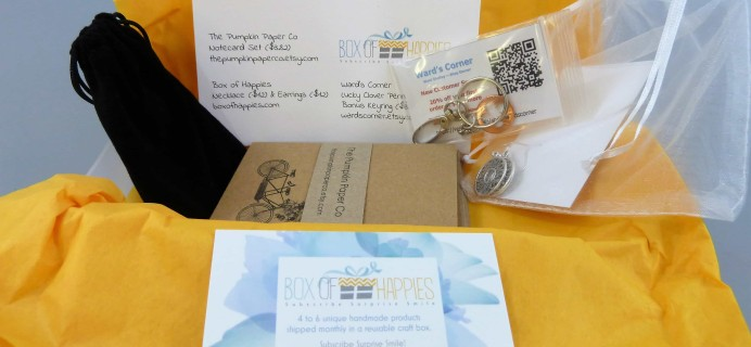 Box of Happies August 2017 Subscription Box Review