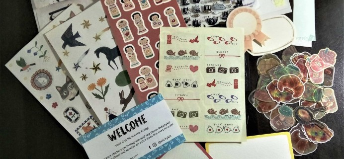 Sticky Kit August 2017 Subscription Box Review + Coupon