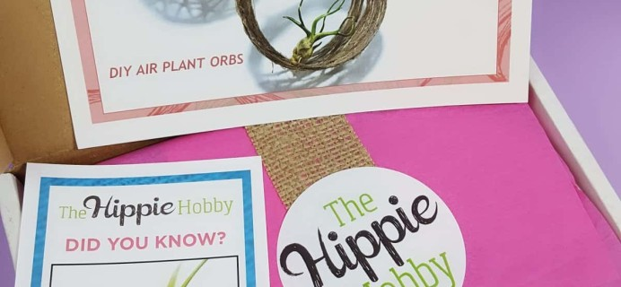 The Hippie Hobby Subscription Box Review & Coupon – July-August 2017