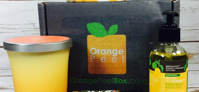 Orange Peel Box Subscription Box Review August 2017