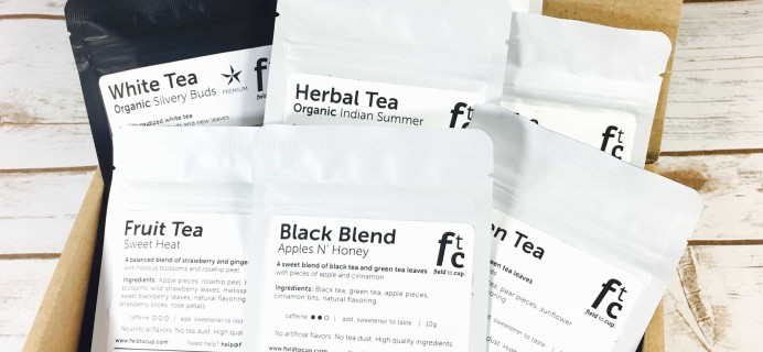 Field To Cup September 2017 Subscription Box Review + Coupon – Tea Discovery Box