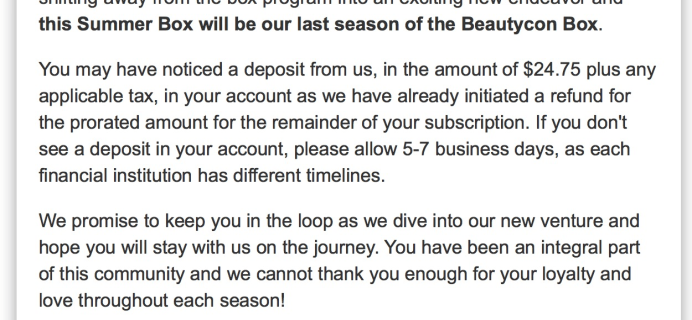 Beautycon Box Announces Closure