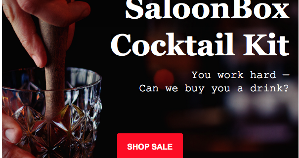 SaloonBox Cocktail Subscription Box Labor Day Deal – 50% Off First Box!