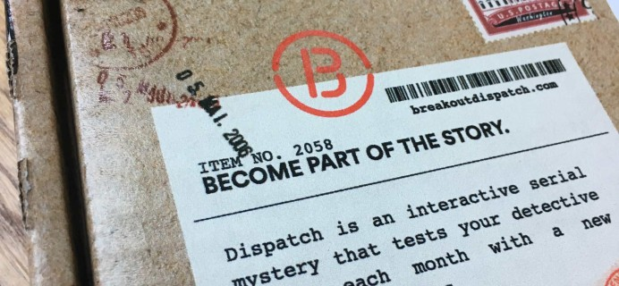 Dispatch by Breakout Games Subscription Box Review + Coupon – On The Run Series