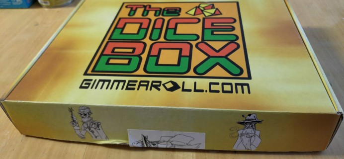 The Dice Box August 2017 Subscription Box Review + Coupon – Fantasy