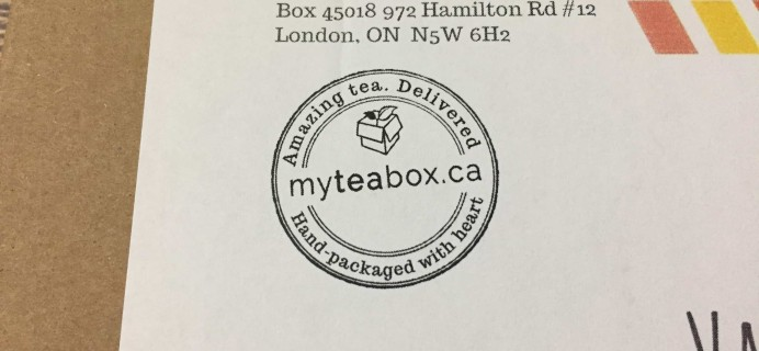MyTeaBox September 2017 Subscription Box Review