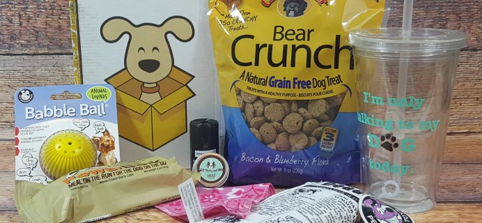 Wigglebutt Box Dog Subscription Box Review – August 2017