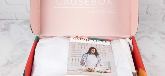 CAUSEBOX Fall 2017 Subscription Box Review + Coupon