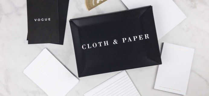 CLOTH & PAPER September 2017 Stationery Box Review