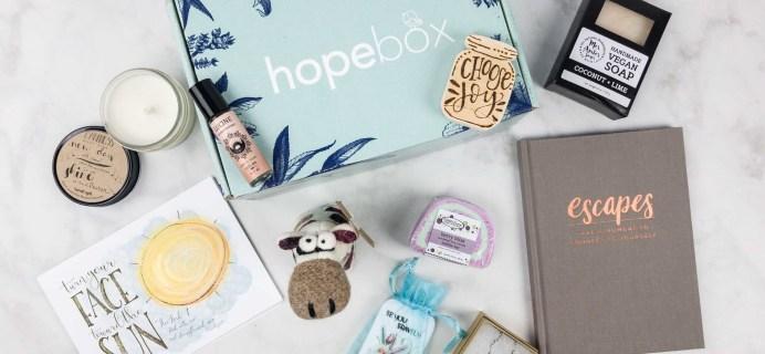 Hopebox September 2017 Subscription Box Review