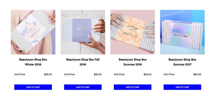 BeautyCon Box Closeout Sale – All Boxes $8.75!