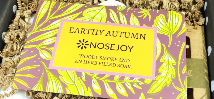 NOSEJOY September 2017 Subscription Box Review + Coupon!