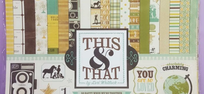 Scrapbooking Store August 2017 Subscription Box Review