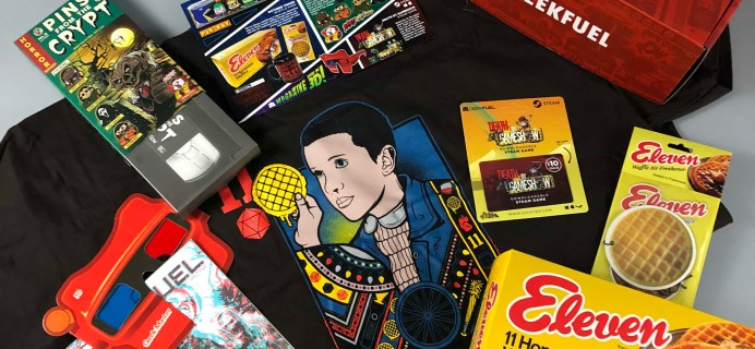 Geek Fuel October 2017 Subscription Box Review + Coupon!