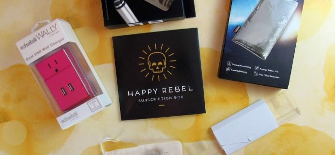 Happy Rebel Subscription Box Mini Review – Fall 2017