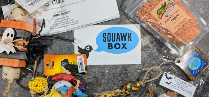 Squawk Box Subscription Review – October 2017
