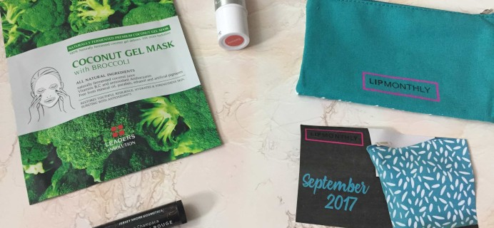 Lip Monthly September 2017 Subscription Box Review & Coupon