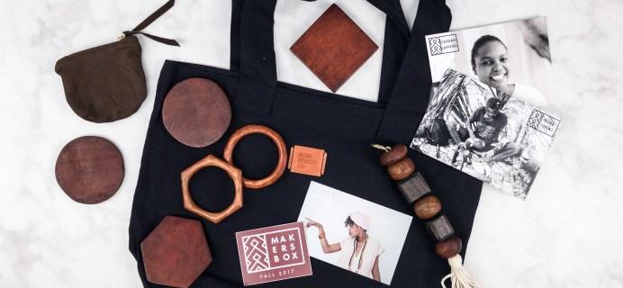Haiti Design Co Maker's Box Fall 2017 Subscription Box Review