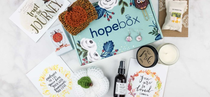 Hopebox October 2017 Subscription Box Review