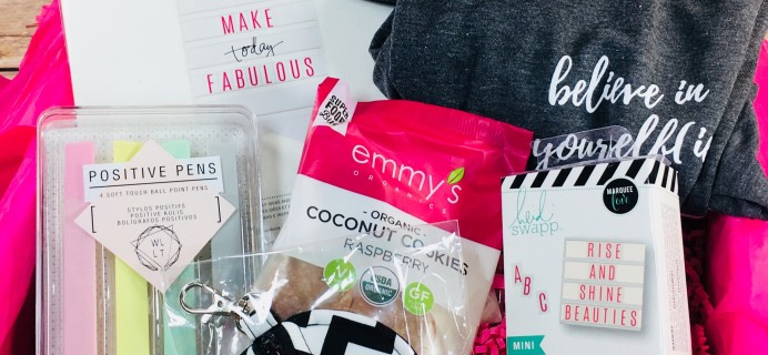 STRONG selfie Subscription Box Review – Fall 2017 BURST(box)