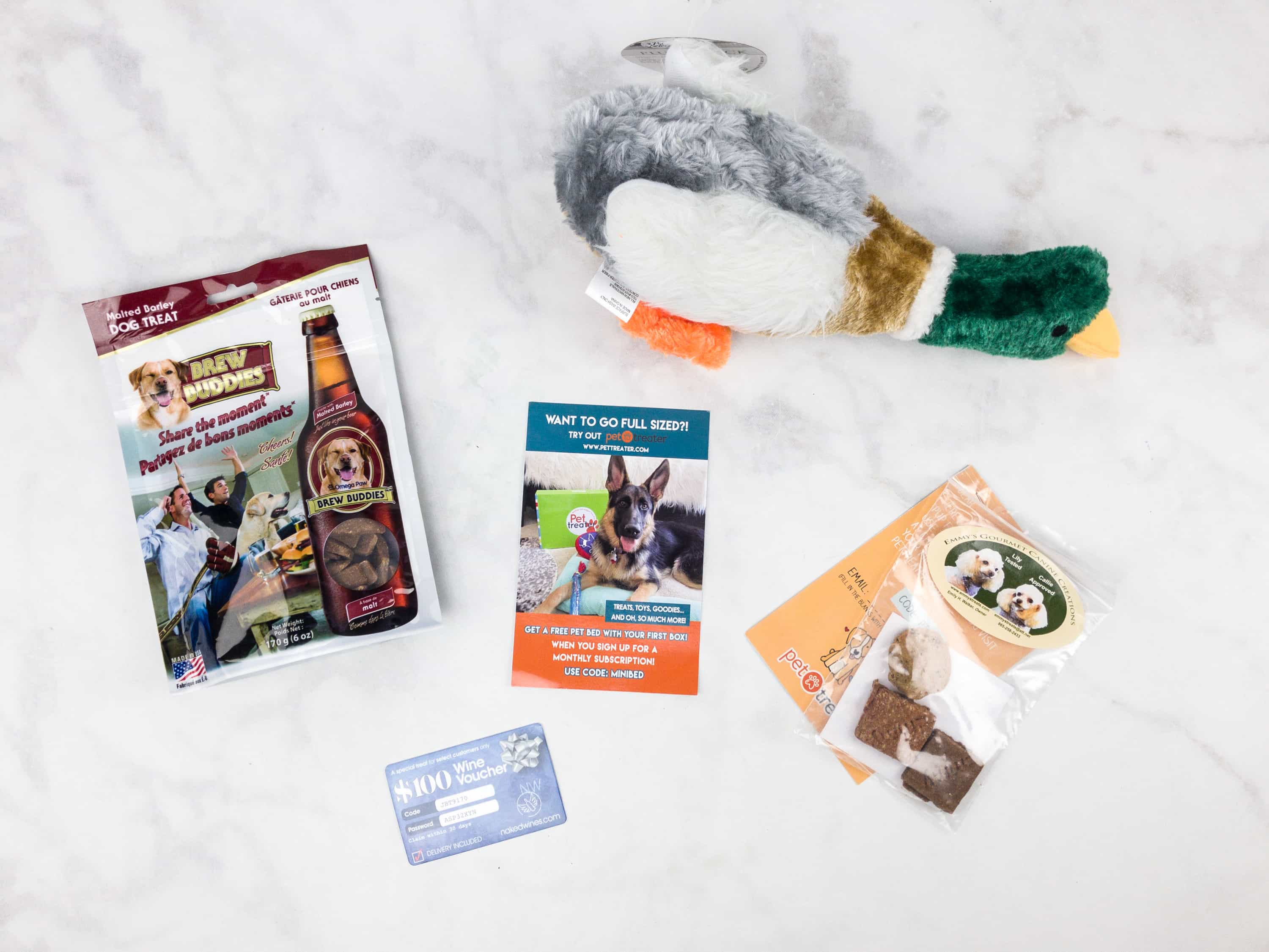 The contents of the October Mini Monthly Mystery Box for Dogs. This is the box for Small Dogs. & Mini Monthly Mystery Box for Dogs October 2017 Subscription Box ... Aboutintivar.Com